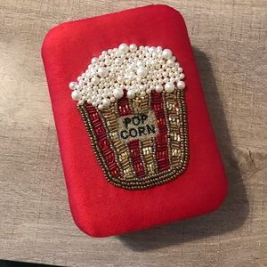 Beaded Popcorn Fabric Snap Close Box